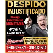 ABOGADO LABORAL EN DESPIDOS INJUSTOS#1 ☎1800-572-4222.   job image